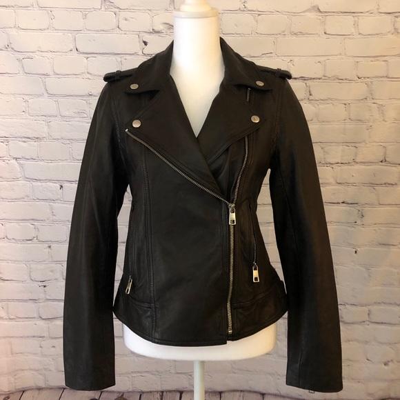 BRAND NEW 🤍 Banana Republic Leather Moto Jacket